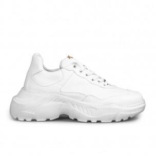 Ανδρικά λευκά sneakers Chunky All white Knack