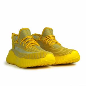 Ανδρικά ελαστικά κίτρινα αθλητικά παπούτσια  2