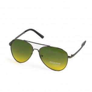 Ανδρικά πράσινα γυαλιά ηλίου aviator 2
