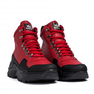 Ανδρικά κόκκινα sneakers Trekking design Wagoon 2