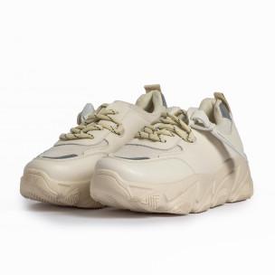 Γυναικεία μπεζ αθλητικά παπούτσια FM  2