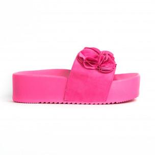 Γυναικείες ροζ πλατφόρμες Mellisa