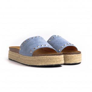 Γυναικείες γαλάζιες παντόφλες Sweet Shoes 2