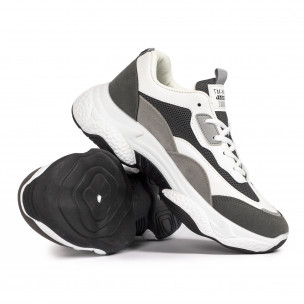Ανδρικά γκρι αθλητικά παπούτσια Chunky FM 2