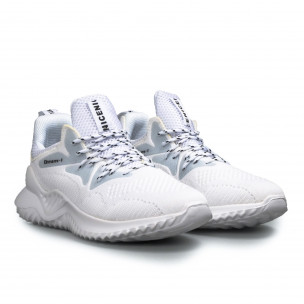 Ανδρικά λευκά ψηλά sneakers FM  2