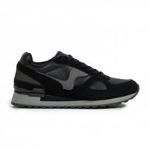 Ανδρικά μαύρα αθλητικά παπούτσια Flair Flair
