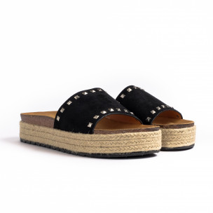 Γυναικείες μαύρες παντόφλες Sweet Shoes 2