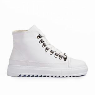Ανδρικά λευκά sneakers Trekking design Wagoon
