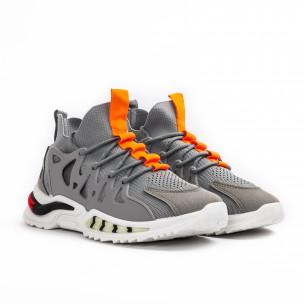 Ανδρικά γκρι αθλητικά παπούτσια Sport 2