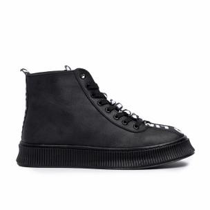Ανδρικά ψηλά μαύρα sneakers  2
