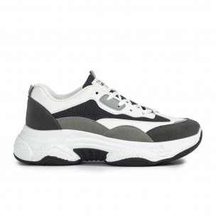 Ανδρικά γκρι αθλητικά παπούτσια Chunky