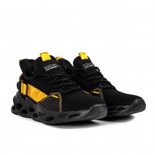 Ανδρικά μαύρα αθλητικά παπούτσια Chevron Kiss GoGo 2
