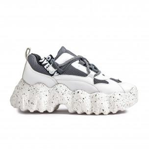 Sneakers Ultra Sole σε λευκό και γκρι