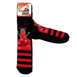 Ανδρικά χριστουγεννιάτικα κάλτσες μαύρο 1 ζευγάρι