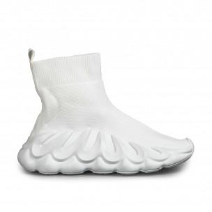 Γυναικεία λευκά sneakers κάλτσα Fashion&Bella