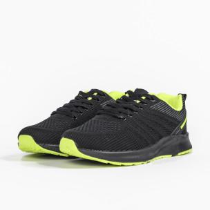 Ανδρικά μαύρα και νέον αθλητικά παπούτσι  2