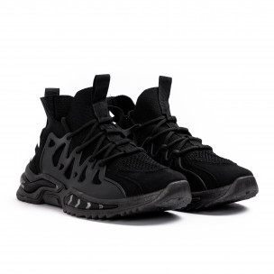 Ανδρικά μαύρα αθλητικά παπούτσια Sport 2