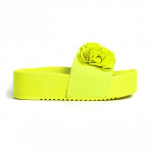 Γυναικείες κίτρινες πλατφόρμες Mellisa