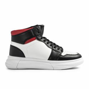 Ανδρικά sneakers σε λευκό και μαύρο FM