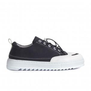 Ανδρικά γκρι πάνινα παπούτσια Sennator 2