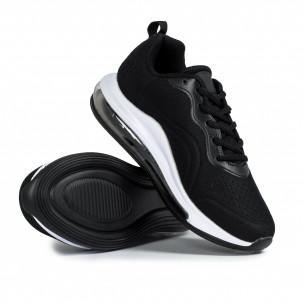 Ανδρικά μαύρα αθλητικά παπούτσια με σόλες αέρα Jomix 2