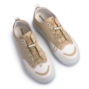 Ανδρικά μπεζ πάνινα παπούτσια Sennator