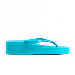 Γυναικείες γαλάζιες παντόφλες D&M