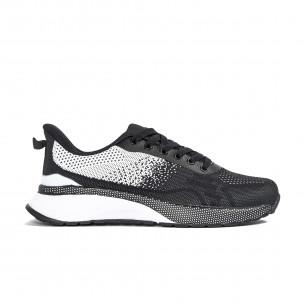 Ανδρικά αθλητικά παπούτσια σε μαύρο και λευκό