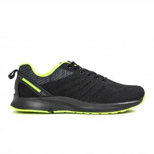 Ανδρικά μαύρα και νέον αθλητικά παπούτσι