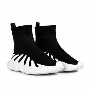 Γυναικεία μαύρα sneakers κάλτσα Fashion&Bella 2