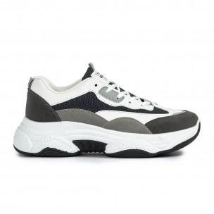 Ανδρικά γκρι αθλητικά παπούτσια Chunky FM