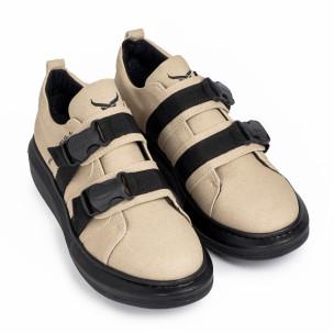 Ανδρικά μπεζ sneakers Black Bull  2