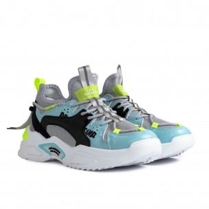 Chunky ανδρικά γκρι sneakers  2