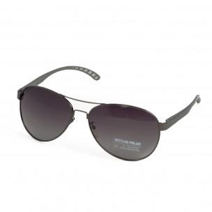 Ανδρικά γκρι γυαλιά ηλίου aviator 2