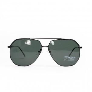 Ανδρικά μαύρα γυαλιά ηλίου hexagonal