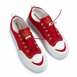 Ανδρικά κόκκινα πάνινα παπούτσια Sennator