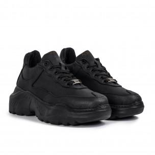 Ανδρικά μαύρα sneakers Chunky All black Knack 2