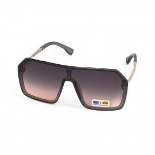 Ανδρικά καφέ γυαλιά ηλίου μάσκα 2