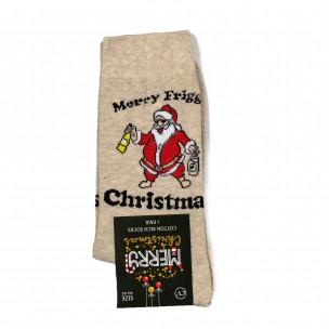 Αρωματισμένες Χριστουγεννιάτικες κάλτσες μπεζ 1 ζευγάρι