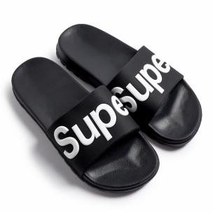 Ανδρικές μαύρες σαγιονάρες Super