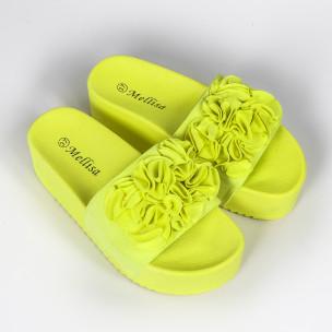 Γυναικείες κίτρινες πλατφόρμες Mellisa 2