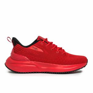 Ανδρικά κόκκινα sneakers σε υφή