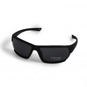 Ανδρικά μαύρα γυαλιά ηλίου Sport  2