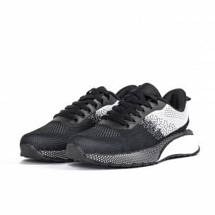 Ανδρικά αθλητικά παπούτσια σε μαύρο και λευκό  2