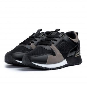 Γυναικεία  sneakers σε μαύρο και γκρι 2
