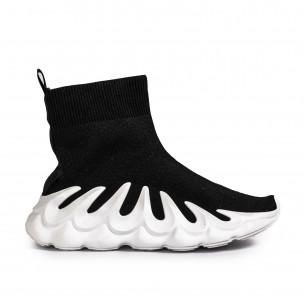 Γυναικεία μαύρα sneakers κάλτσα Fashion&Bella