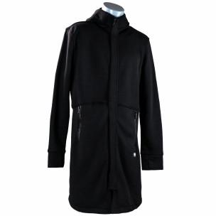 Ανδρικό μαύρο φούτερ μακρύ μοντέλο με κουκούλα