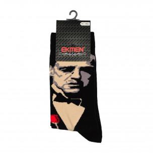 Ανδρικές κάλτσες με μοτίβο Al Capone 1 ζευγάρι