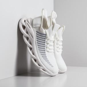 Ανδρικά λευκά αθλητικά παπούτσια Kiss GoGo Kiss GoGo