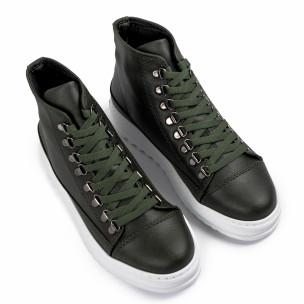 Ανδρικά πράσινα sneakers Trekking design  2